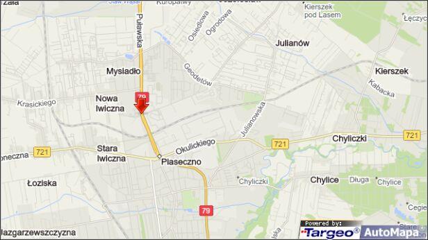 Zderzenie na Puławskiej targeo