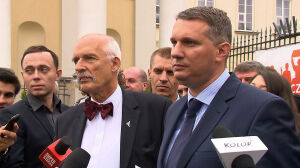 Wdał się w awanturę z policją, Wipler chce być prezydentem Warszawy