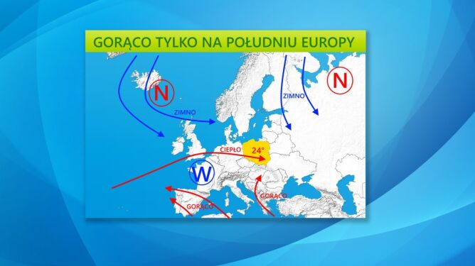 Gorąco będzie tylko na południu Europy