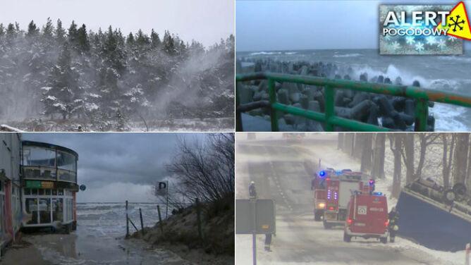 IMGW alarmuje: wysoki poziom wody, silny wiatr i oblodzenia