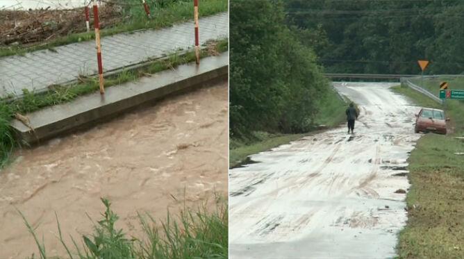 Powódź błyskawiczna na Lubelszczyźnie. <br />90-letnia kobieta cudem uszła z życiem