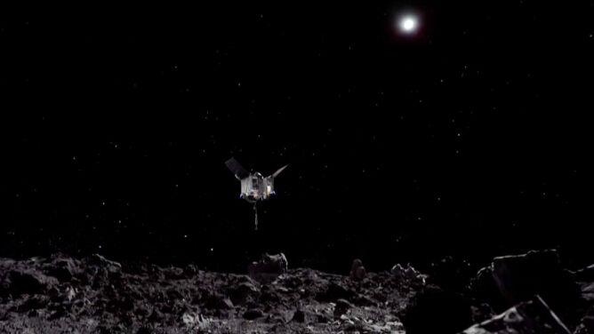 OSIRIS-REx - sonda NASA dotknęła asteroidy Bennu i zebrała kosmiczny pył