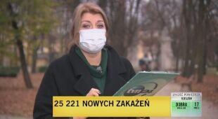 Nowa przypadki zakażenia koronawirusem 11.11